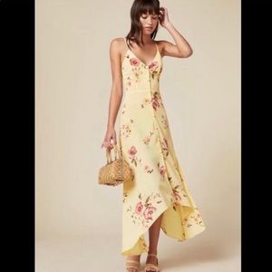 NWT Yellow Reformation Savannah Dress in Barnyard